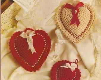 Vintage Pineapple Hearts Crochet Pattern