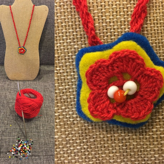 Handmade Knited Necklace