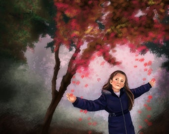 Child's Portrait, Paintings from Photograph , Portrait by Commission, Custom Portrait of Child, Gift for Grandparents, Portraits from Photos