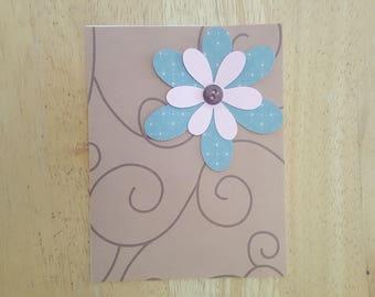 Blank Flower Card