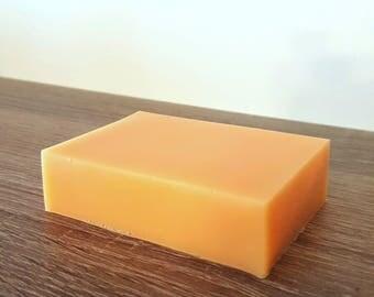 Apricot soap, 4.4oz, orange soap, soap favor, soap bar, sweet soap, party favor