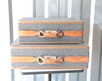 Vintage Hartman Luggage large and medium size suitcases