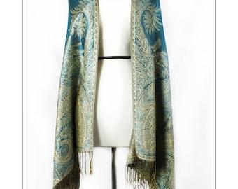 Pashmina aquamarine blue Shawl