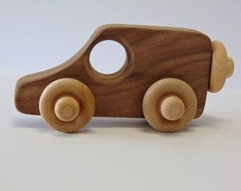 Natural Wood Toy Woodie Van