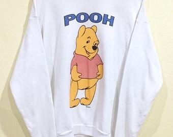 Rara!!! Vintage Pooh sudadera Lee Estados Unidos hizo Disney Jersey Jumper suéter pato de Donald de Mickey Mouse Minnie Pluto Walt Disney World