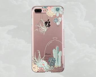 Succulent.Cactus.iPhone X case.iPhone 8 case.iPhone 8 Plus case.iPhone 7 case.iPhone 7 Plus case.iPhone 6s case.iPhone 6s Plus.Clear case 8+
