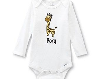 Personalized Giraffe Onesie