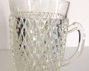 Indiana pressed glass diamond point pitcher.