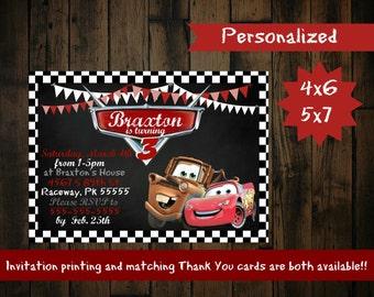 Cars Birthday Invitation - Disney Cars Birthday Invitation - Disney cars birthday party