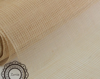 Eyelet Design Sinamay Fabric with and without sizing Millinery Fabrics per meter| SH101