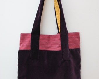 Purple Velvet, Pink, Canvas Tote Bag, Shopping.
