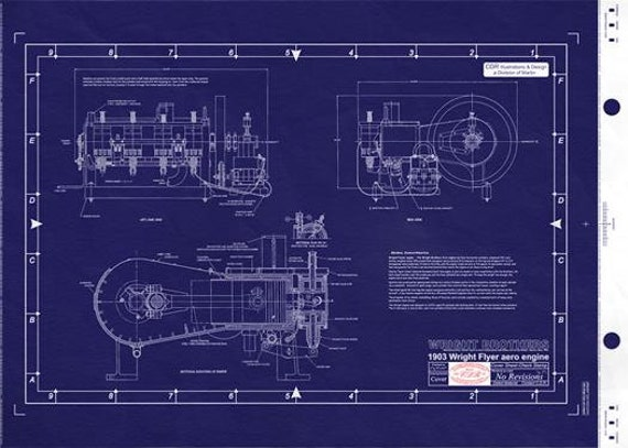 Wright br der flyer motor 1903 technische for Wrights motors north danville il