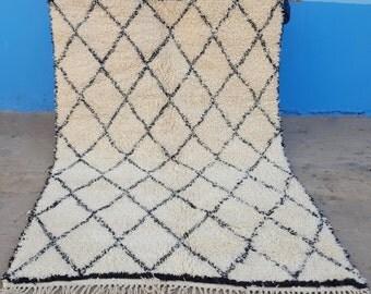 Beni Ourain handmade Moroccan 100% wool rug 10  / 6,2