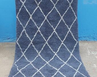 Beni Ourain handmade Moroccan rug  100% wool rug
