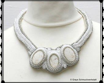 "Collier ""Anastasia"" - Bead embroidery (Perlenstickerei)"
