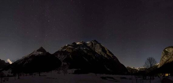 Postcard - starry sky mountain