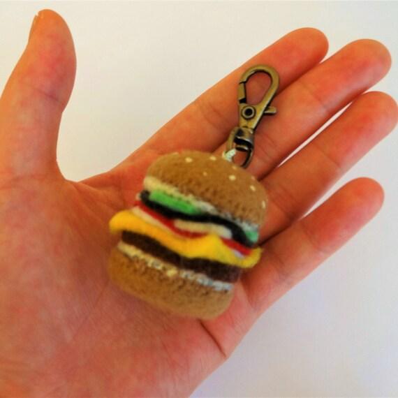 Felt Hamburger Keyring