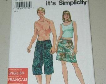 Simplicity Unisex Shorts Pants Pattern 9175 Size XS - XL 12788 UNCUT