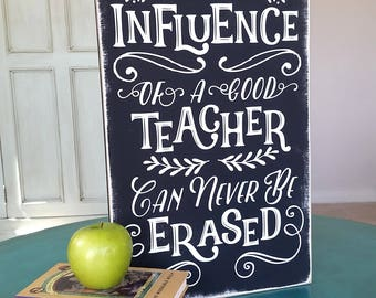 TEACHER Appreciation Gift Chalkboard Style Wood Sign
