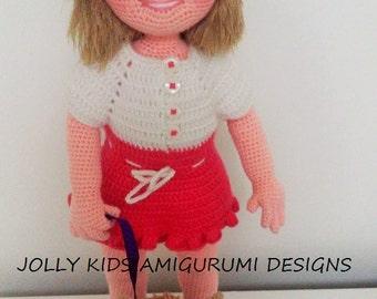 ELA DOLL-Amigurumi Crochet Pattern-Pdf