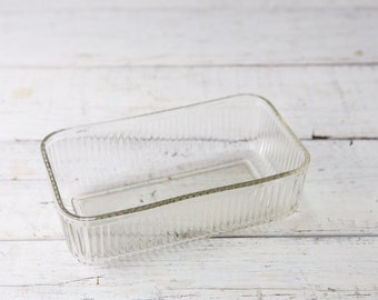 Vintage Clear Glass Bread Pan-Food Photography Props
