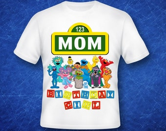 Mom of the Birthday Girl Sesame Street iron on transfer, high resolution, digital files only, instant download