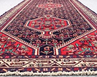 "Beautiful Hallway Vintage Persian Runner Rug BIDJAAR 3'.3""X13' Handknotted 100% Wool Pile Rug (GM-317)=> Free Domestic Shipping"