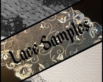 5 Swatches - Select your own lace samples