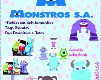 PDF Pattern Felt Monsters Inc Baby