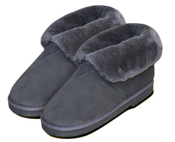 Lambskin slippers anthrazite