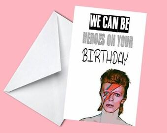 David Bowie Birthday Card - Funny