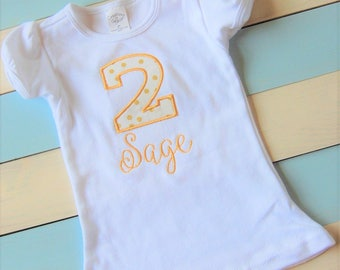 Birthday Shirt, Girl or Boy Birthday shirt, Number Birthday Shirt