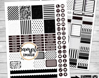 Weekly Planner Sticker Kit, Printable Stickers, Printable Planner Kit, Weekly Planner Kit, Scrapbook Sticker Kit