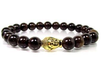 Bronzite Gemstone Bracelet,Buddha Bracelet,Men Bracelet,Mens Bracelet,Men Gemstone Bracelet,Bracelet for Men,Gift for Him,Beaded Bracelet