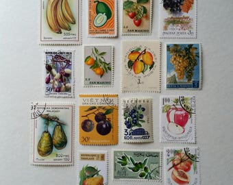 15 x used fruit stamps (4 different lots)