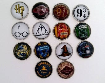 Harry Potter, Dobby, Sorting Hat, Hogwarts Express, Maradors Map, Gryffindor, Hufflepuff, Ravenclaw, Slytherin, ginger snaps jewelry, snap