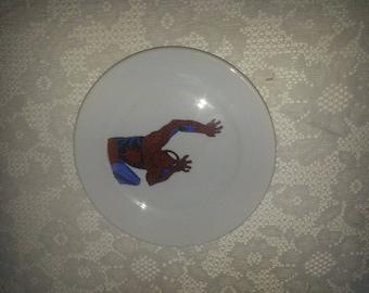 Handpainted Spiderman Plate 16,5 cm