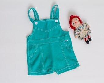 vintage 80s baby overalls | shortalls