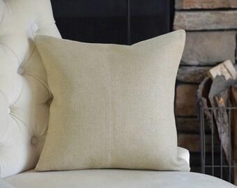 Linen Decorative Throw Pillow Cover