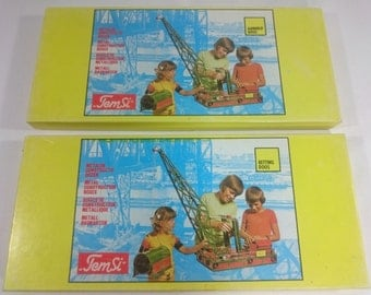 MECCANO KO - Temsi Metal Construction Boxes Gearbox and Chainbox - 1970s 1980s
