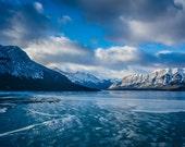 "Abraham Lake Postcard 4""x6"" Alberta, Canada."