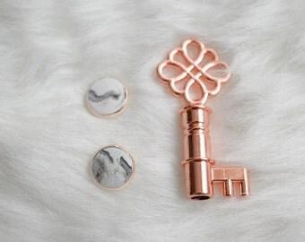 12mm Rose Gold Marble Stud Earring Dainty Dawn Original