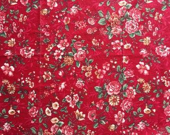 Maroon floral adult bandana