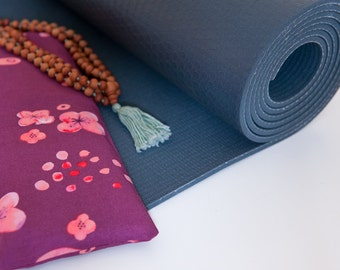 Organic Eye Pillow *purple* - Yoga - Good Night Sleep - Relaxsation - Removable and washable cover