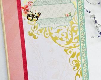 Blank Writing Journal, Diary, Notebook, Scrapbook, Large, Unlined, Handmade