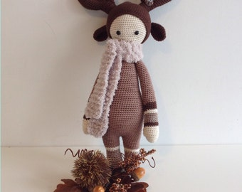 Christmas Reindeer / Don to hook/Lalylala / Amigurumi/Home décor/gift/child