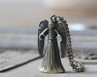 Dr Who Inspired Weeping Angel Necklace