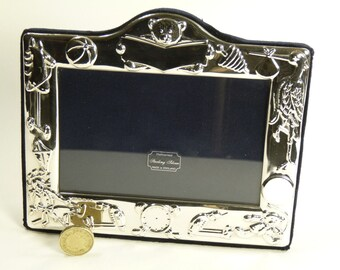 "Vintage Sterling Silver - Photo / Picture FRAME - 5 1/4"" x 3 1/2"" - SF21"