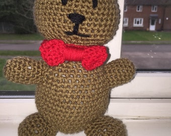 Brown crochet teddy bear