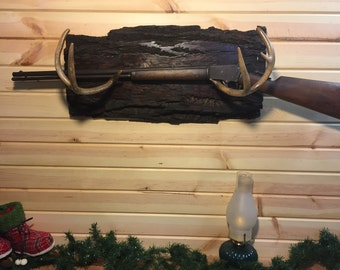 Live Edge Deer Antler GUN rack